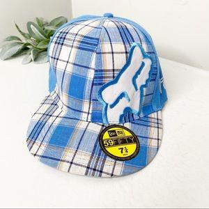 Fox plaid racing hat new